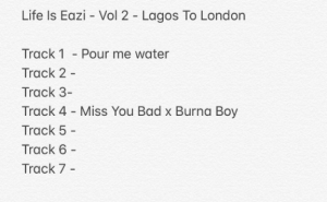 "Mr Eazi - ""Miss You Bad"" Ft. Burna Boy"